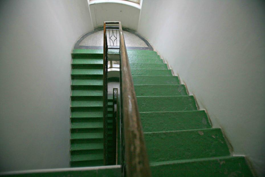 původní vzhled schodiště